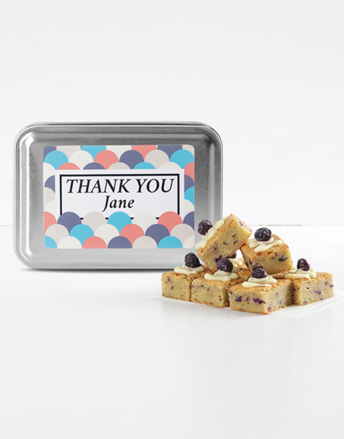 teachers-day: Personalised Thank You Blueberry Blondies!