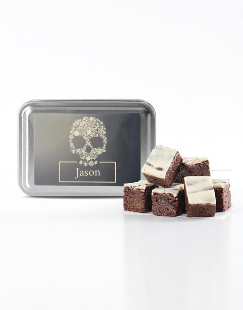 personalised: Personalised Sugar Skull White Choc Chunk Brownies!