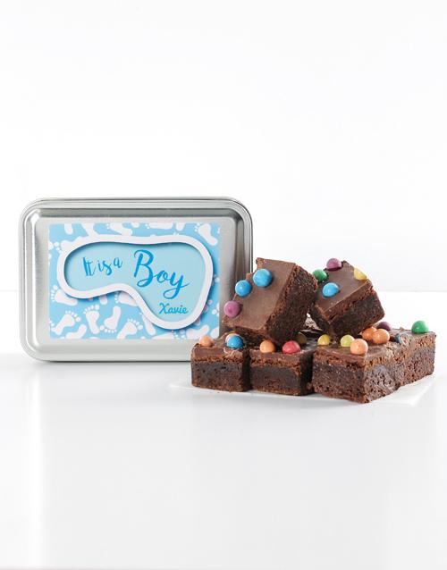 personalised: Personalised Baby Boy Astro Brownies!