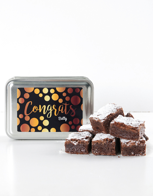 bakery: Personalised Congrats Chunky Chocolate Brownies!