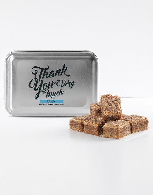 bakery: Personalised Thank You Cinnamon Sugar Blondies!