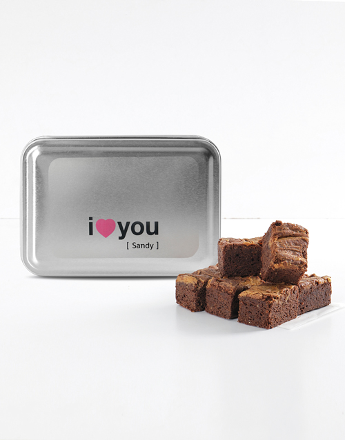 bakery: Personalised I Love You Peanut Butter Brownies!