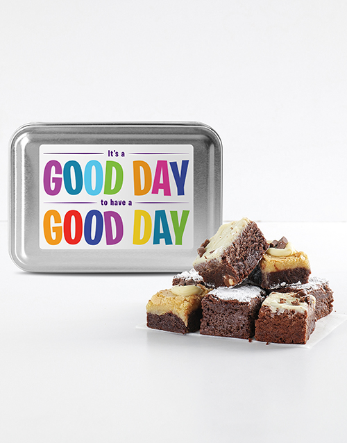 bakery: Have Great Day Brownie Tin!