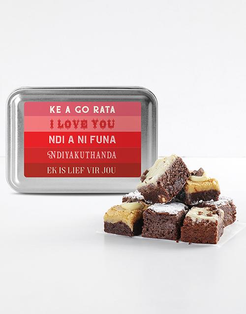 bakery: I Love You Brownie Tin!