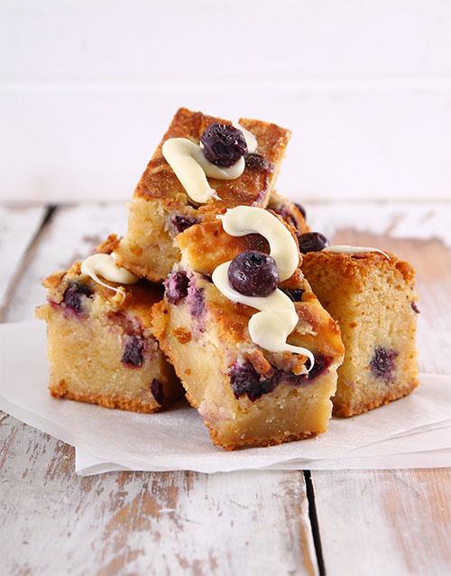 bakery: Blueberry Cheesecake Swirl Blondies!