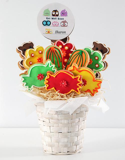 personalised: Personalised Get Well Soon Cookie Bouquet!