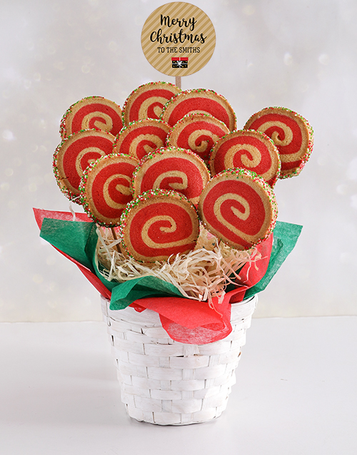 christmas: Personalised Christmas Spiral Cookie Bouquet!