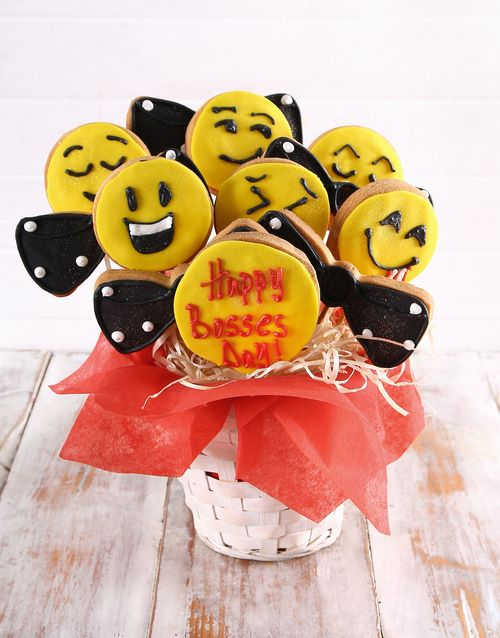 bosses-day: Bosses Day Emoji Cookie Bouquet!