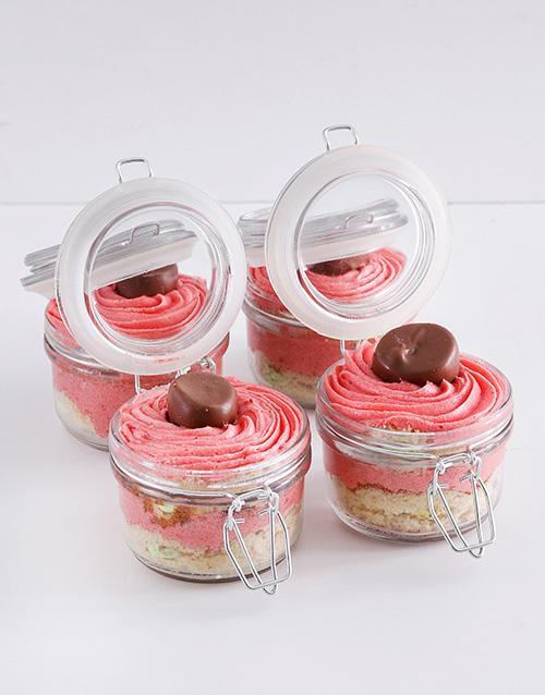 bakery: Speckled Egg Strawberry Marshmallow Cupcake Jars!