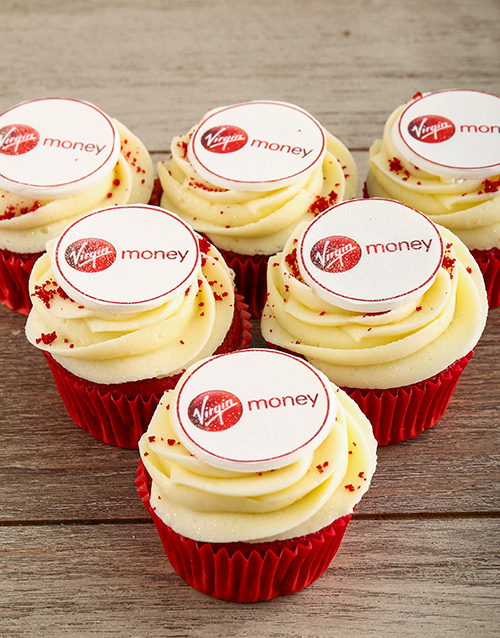 personalised: Red Velvet Cupcakes with Your Logo!