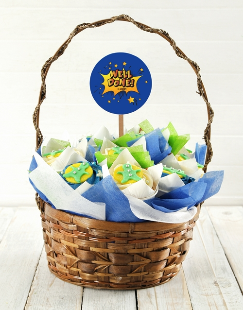 cupcake-bouquets: Personalised Well Done Cupcake Bouquet!