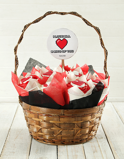 anniversary: Personalised Love Bits Cupcake Bouquet!