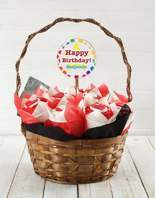 birthday: Personalised Hearts Birthday Cupcake Bouquet!