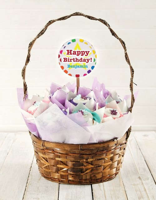 cupcake-bouquets: Personalised Birthday Star Cupcake Bouquet!