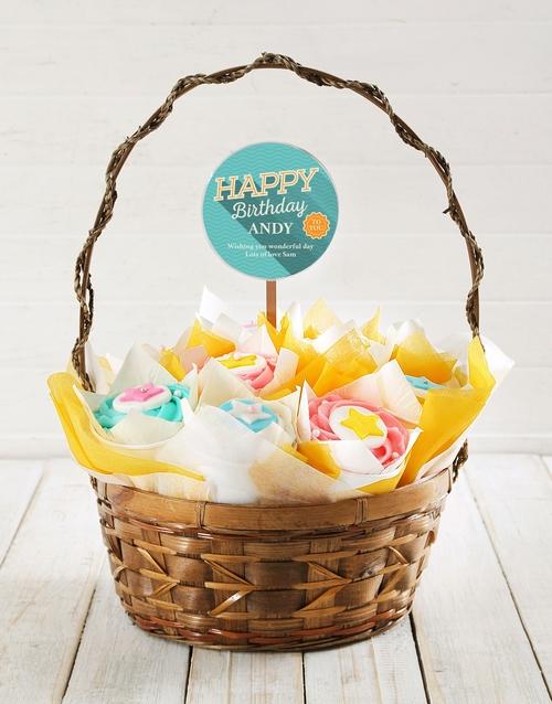 birthday: Personalised Starry Birthday Cupcake Bouquet!