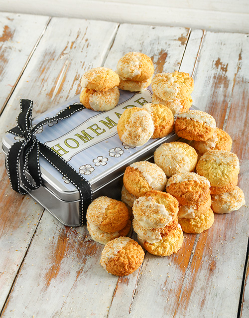 bakery: White Chocolate and Coconut Cookie Tin!