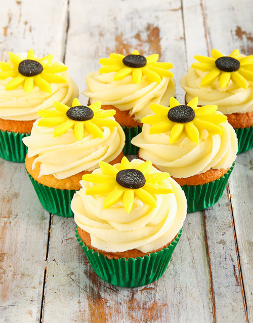 bakery: Sunflower Cupcakes!