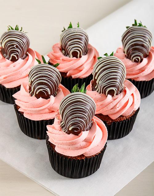 bakery: Strawberry Cream Chocolate Cupcakes!