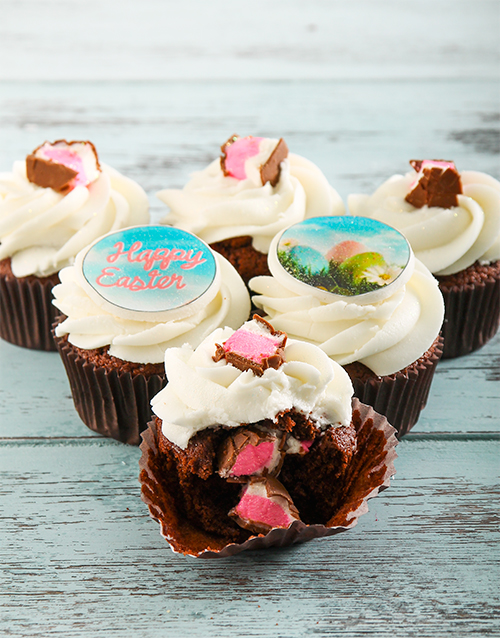 easter: Mallow Egg Easter Cupcakes!