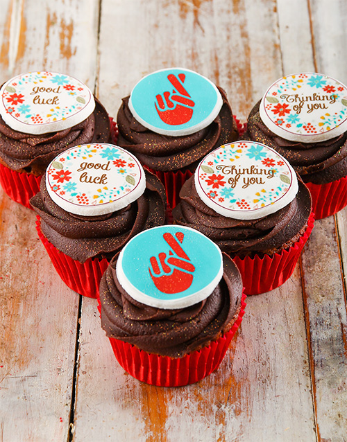 bakery: Good Luck Cupcakes!
