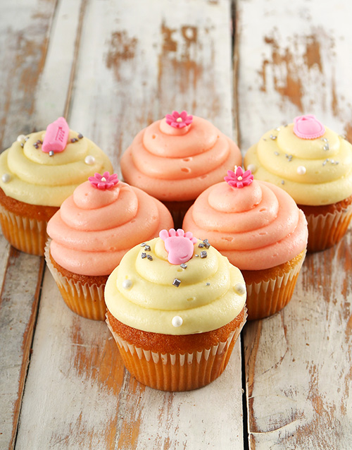 bakery: Baby Girl Cupcakes!