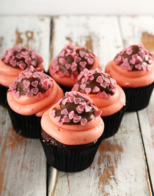 bakery: Strawberry Dipper Cupcakes!