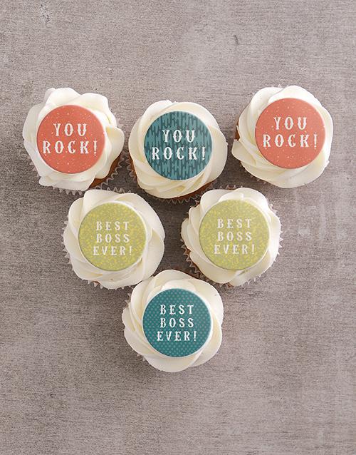 bosses-day: Best Boss Ever Vanilla Cupcakes!