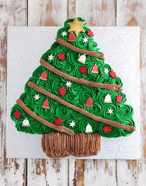 christmas: Christmas Tree Pull Apart Cupcake Cake!