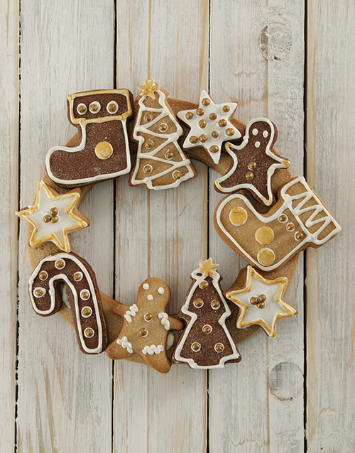 bakery: Gold and Ginger Christmas Cookie Wreath!