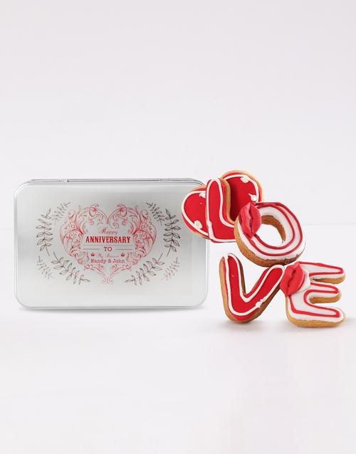 anniversary: Personalised Anniversary Love Cookie Tin!