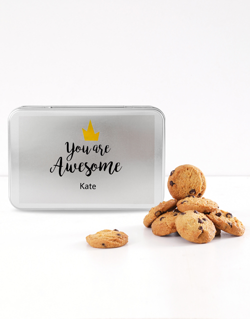 cookies-and-biscuits: Personalised You are Awesome Cookie Tin!