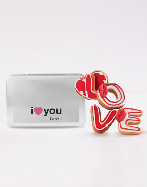 personalised: Personalised I Love You Cookie Tin!