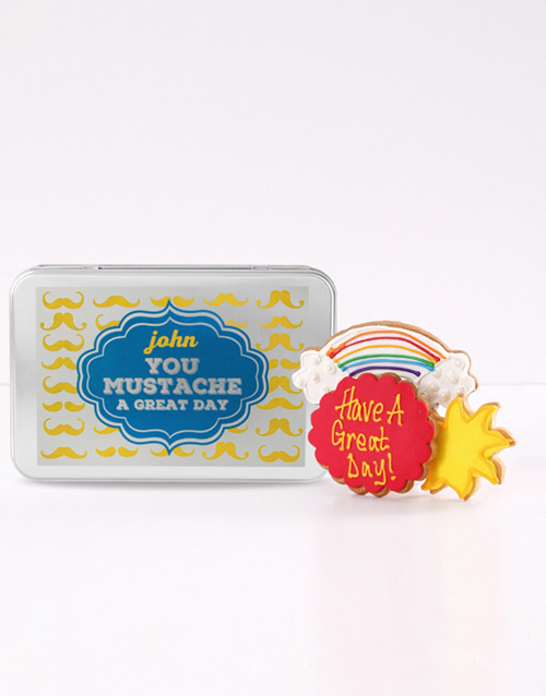 personalised: Personalised Have a Great Day Cookie Tin!