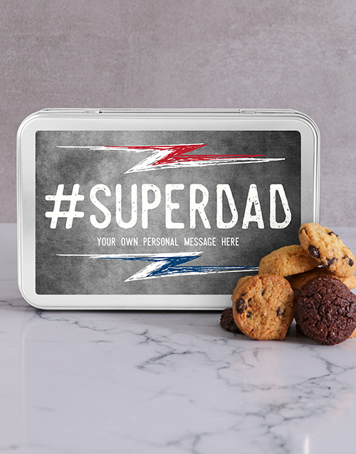 fathers-day: Personalised Super Dad Cookie Tin!