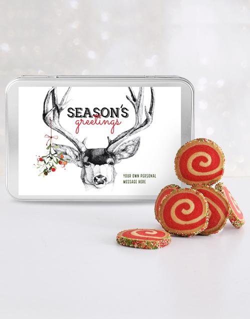bakery: Personalised Seasons Greetings Spiral Cookie Tin!