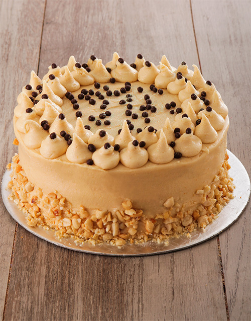 bakery: Banana Cake with Salted Peanut Butter Icing 20cm!
