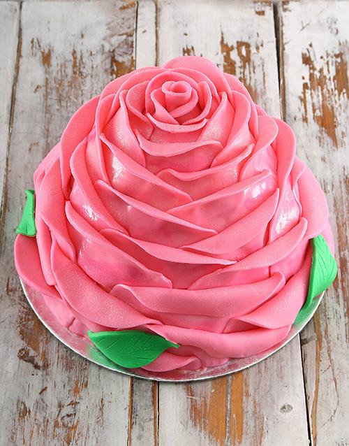 personalised: Pink Turkish Delight Rose Cake!