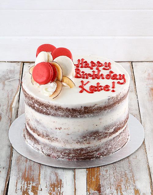 bakery: Macaroon Chocolate Naked Cake!