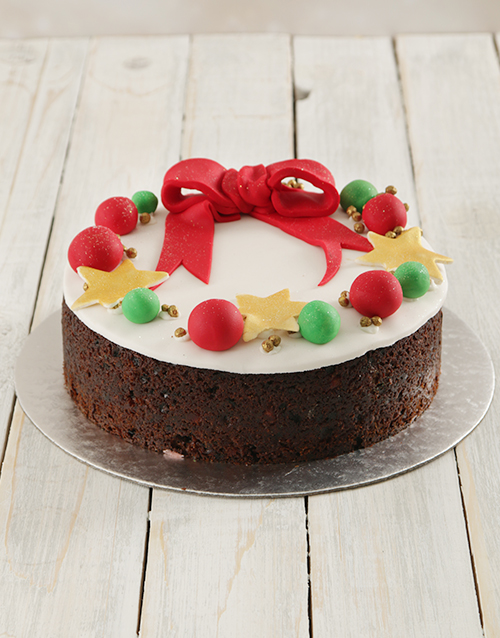 bakery: Christmas Wreath Fruit Cake 20cm!
