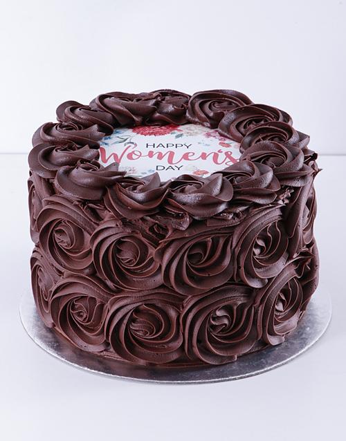 bakery: Womens Day Chocolate Rose Cake!