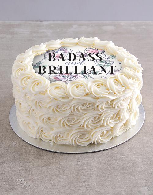 bakery: Badass and Brilliant Vanilla Rose Cake!