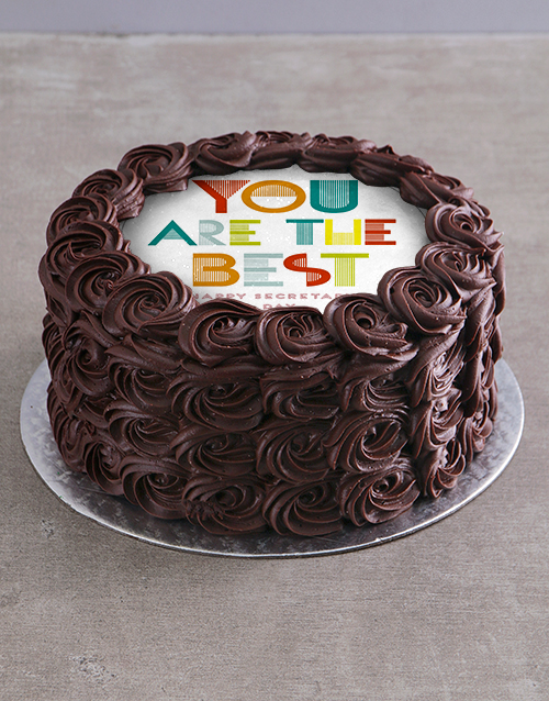 secretarys-day: Best Secretary Chocolate Cake!