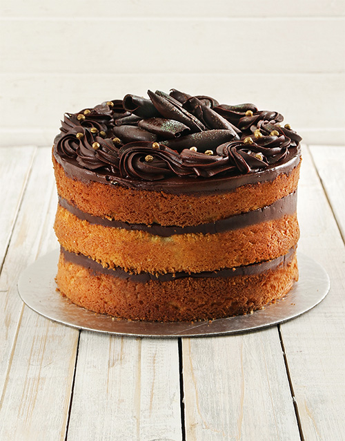 bakery: Chocolate and Vanilla Naked Cake 20cm!