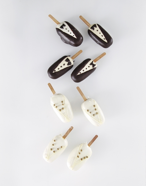 personalised: Wedding Box Cakes on a Stick!