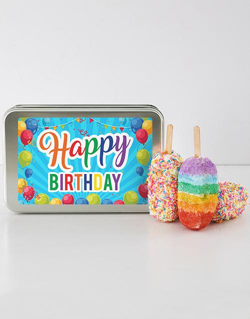 bakery: Birthday Rainbow Cakes On A Stick!