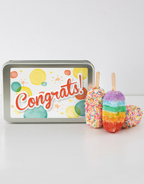 bakery: Congrats Cakes On A Stick!