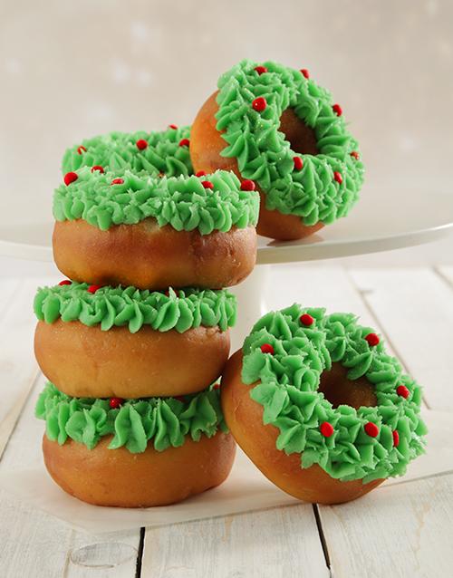 bakery: Christmas Wreath Doughnuts!