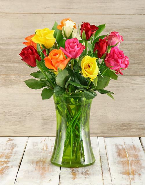 coloured-vases: Colours of Love Arrangement!