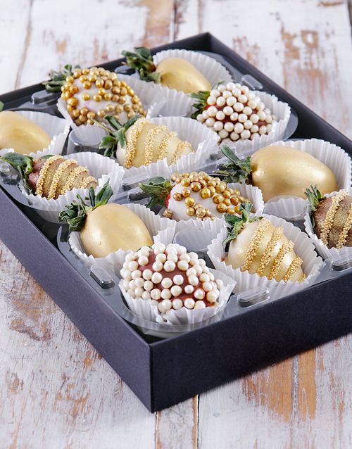 christmas: Gold Bells Dipped Strawberries!