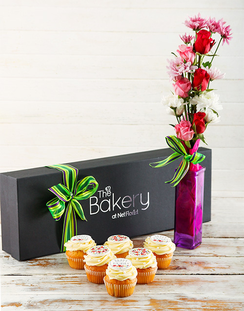 bakery: Floral Birthday Cupcakes and Flowers!